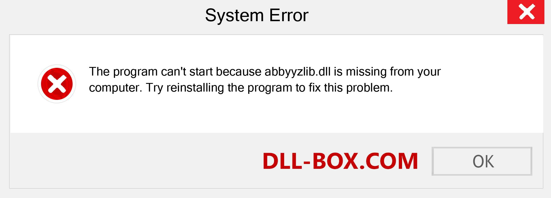 abbyyzlib.dll file is missing?. Download for Windows 7, 8, 10 - Fix  abbyyzlib dll Missing Error on Windows, photos, images